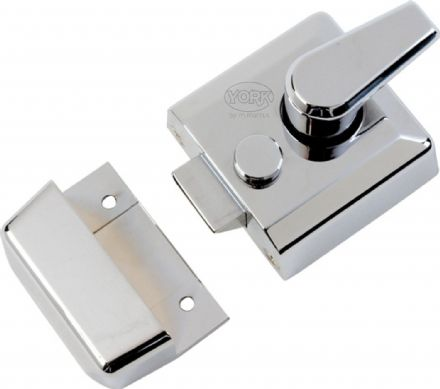 M Marcus York Security NL3040-PC Cylinder Rim Nightlatch 40mm Polished Chrome